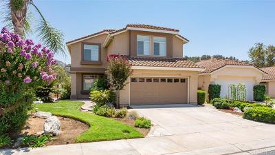 Escondido Single Family Home For Sale: 8747 Gracilior Pl