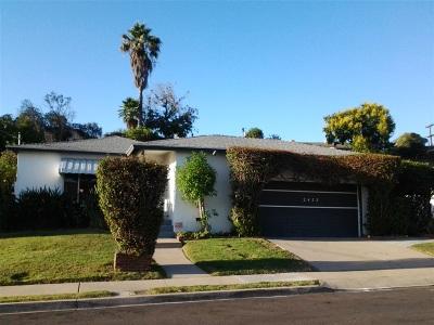 San Diego Single Family Home For Sale: 2455 Homesite Drive