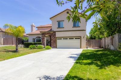 Escondido Single Family Home For Sale: 1752 Dancer Pl