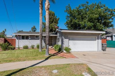 El Cajon Single Family Home For Sale: 625 Bison Ct.