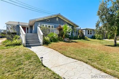 San Diego Single Family Home For Sale: 1358 Lincoln Pl