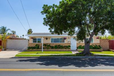 San Diego Single Family Home For Sale: 5083 Conrad