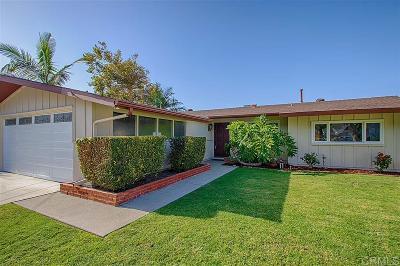Oceanside Single Family Home For Sale: 2418 Skylark Dr