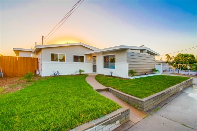 San Diego Single Family Home For Sale: 4854 Doliva Drive