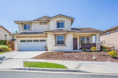 Chula Vista Single Family Home For Sale: 1088 Strawberry Valley Drive