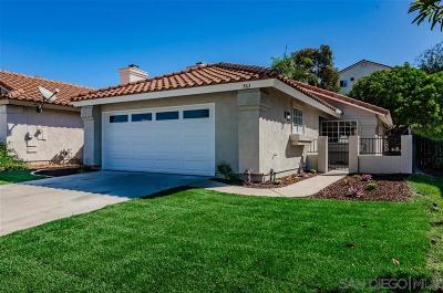 San Marcos Single Family Home For Sale: 563 Avenida Aguila