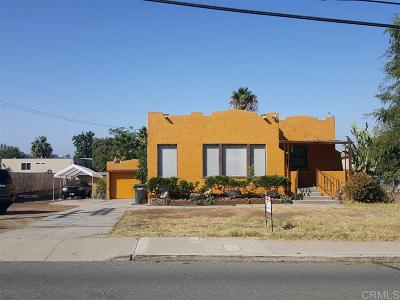 La Mesa Single Family Home For Sale: 4366 Dale Ave