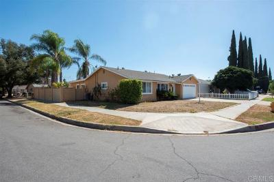 Escondido Single Family Home For Sale: 1499 Wilson Ave