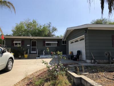 La Mesa Single Family Home For Sale: 4155 Yale Ave
