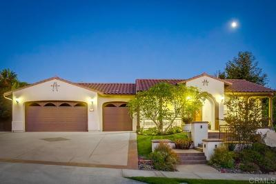 Carlsbad Single Family Home For Sale: 3232 Sitio Montecillo