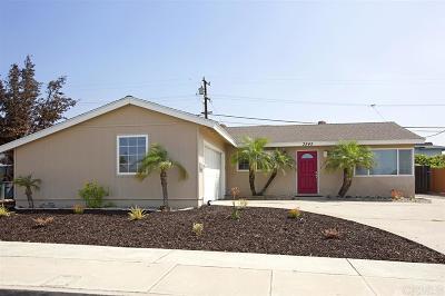 San Diego Single Family Home For Sale: 3545 Atlas St