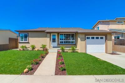 San Diego CA Single Family Home Back On Market: $829,000