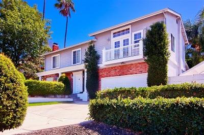La Mesa Single Family Home For Sale: 9579 Tropico Drive