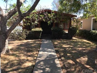 San Diego Single Family Home Pending: 2635 Montclair St