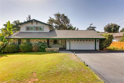 Escondido CA Single Family Home For Sale: $650,000