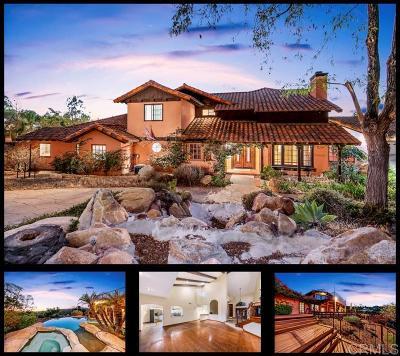el cajon Single Family Home For Sale: 9802 Quail Canyon Rd