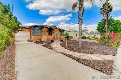 San Diego Single Family Home For Sale: 2530 Vancouver