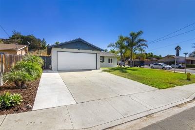 Escondido Single Family Home For Sale: 1404 Taft St