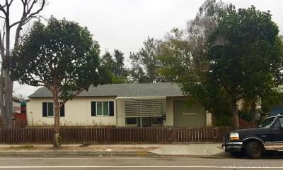 San Diego Single Family Home For Sale: 4051 Clairemont Drive