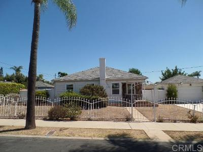 San Diego County Single Family Home For Sale: 1523 48th Street