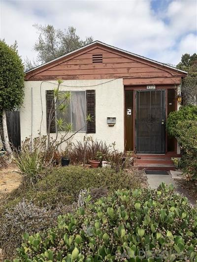 San Diego CA Single Family Home For Sale: $410,000