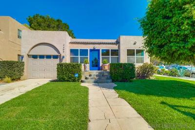 University Heights, University Heights/Hillcrest, University Heights/Mission Hills, University Heights/North Park Single Family Home For Sale: 4405 Texas St