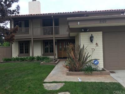 Single Family Home For Sale: 849 Santa Rosita