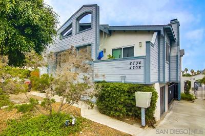 Attached For Sale: 4704 West Point Loma Blvd #5