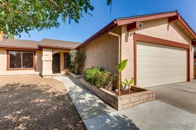 Escondido Single Family Home For Sale: 1266 Pearl Avenue