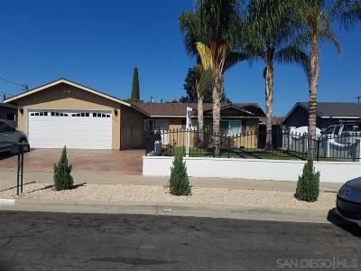 Oceanside Single Family Home For Sale: 4852 Tacayme Drive