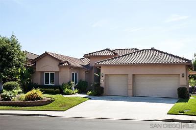 Escondido Single Family Home For Sale: 3265 Via Zamora