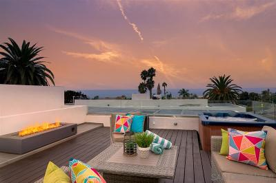 Pacific Beach, Mission Beach Townhouse For Sale: 705 Wrelton