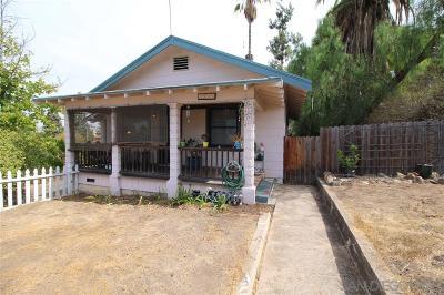La Mesa Single Family Home For Sale: 7985 Normal Ave