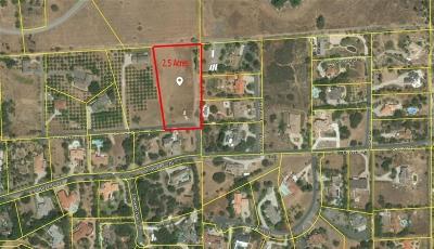 Escondido Residential Lots & Land For Sale: 10360 Cerveza Drive #2.5 Acre