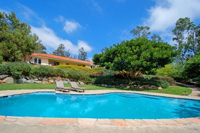 Rancho Santa Fe Single Family Home For Sale: 5425 El Cielito