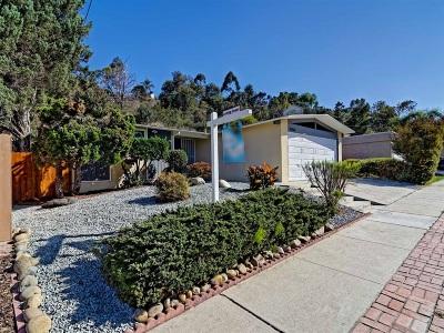 San Diego Single Family Home For Sale: 5460 Baja Dr