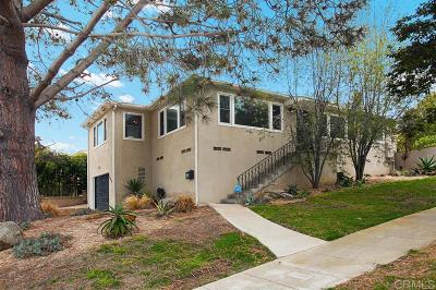 Point Loma Single Family Home For Sale: 1644 Catalina Blvd