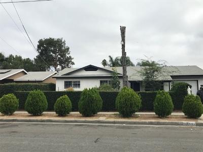 Escondido Single Family Home For Sale: 644 Begonia Street