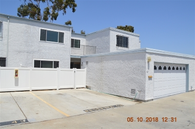 Chula Vista Townhouse For Sale: 1640 Maple Dr. #42