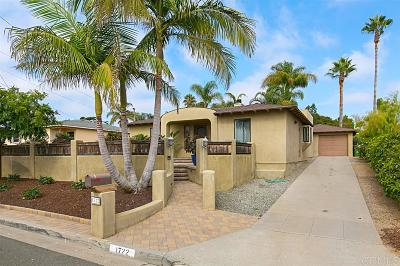 Oceanside Single Family Home For Sale: 1722 Kurtz Street
