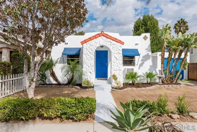 Norma Heights, Normal Heights Single Family Home For Sale: 4513 39th St