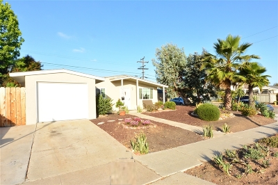 Clairemont, Clairemont East, Clairemont Mesa, Clairemont Mesa East Single Family Home For Sale: 4103 Clairemont Drive
