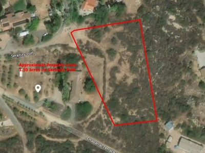 Valley Center Residential Lots & Land For Sale: 1.50 Acres On Serenity Path