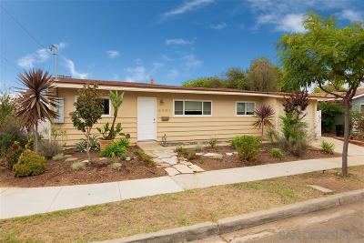 Clairemont, Clairemont Mesa, Clairemont Mesa East, Clairemont Unit 16, Clairmont Single Family Home For Sale: 5091 Roscrea Avenue