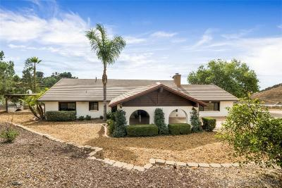 San Diego County Single Family Home For Sale: 30668 Miller Road
