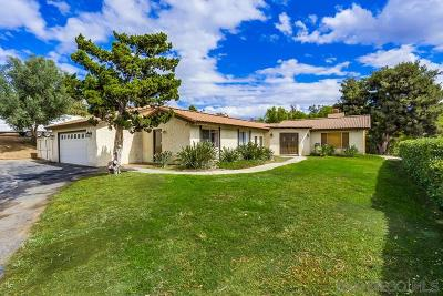 Bonsall CA Single Family Home For Sale: $675,000