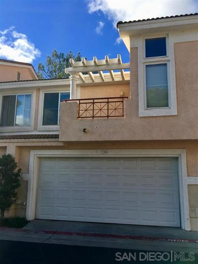 Rancho Penasquitos, Rancho Penesquitos Townhouse For Sale: 9394 Babauta Rd #136