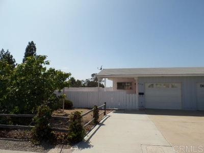 San Diego Single Family Home For Sale: 1418 Hilltop Drive