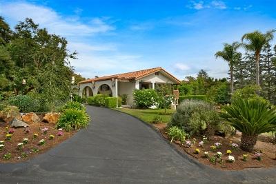 Fallbrook Single Family Home For Sale: 564 Tumble Creek Ter