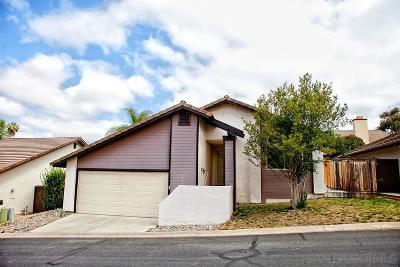 Escondido Single Family Home For Sale: 1932 Buckskin Gln